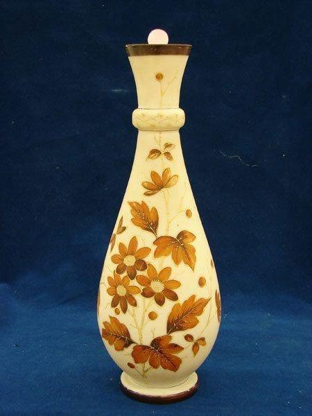 "2524: Handpainted Vase (14"" tall), signed"