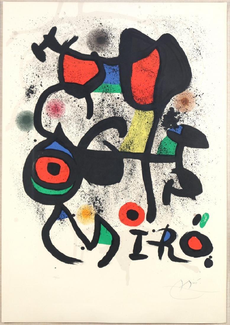 JOAN MIRO (Spanish, 1893-1983),