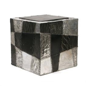 PAUL EVANS 'ARGENTE' CUBE SIDE TABLE