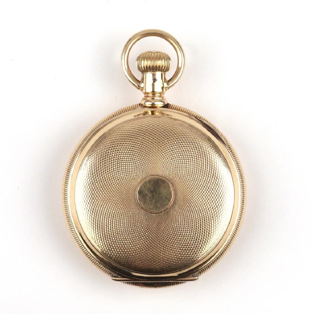 SWISS 'LA SIRENE' GOLD CHRONOGRAPH POCKETWATCH - 2
