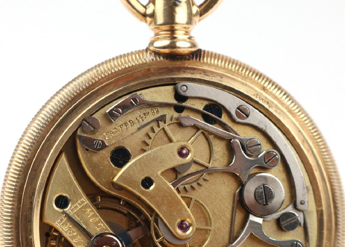SWISS 'LA SIRENE' GOLD CHRONOGRAPH POCKETWATCH - 8