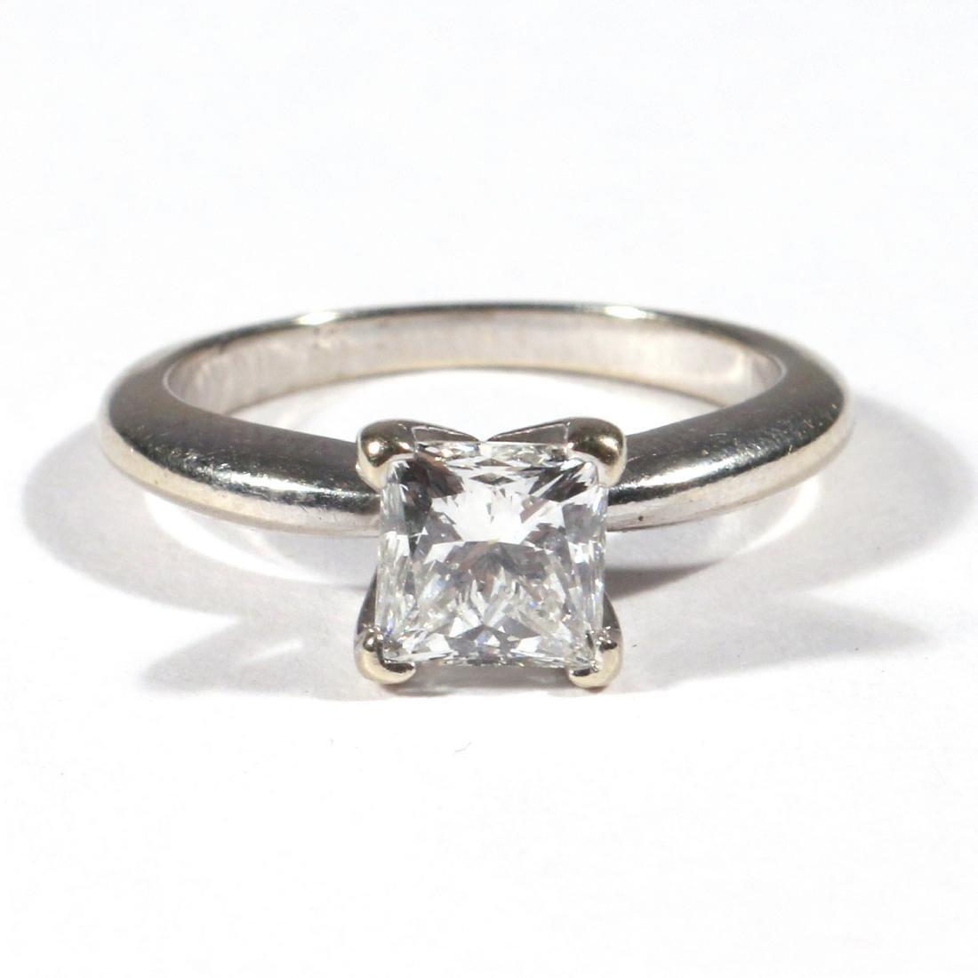 .91ct PRINCESS CUT DIAMOND ENGAGEMENT RING