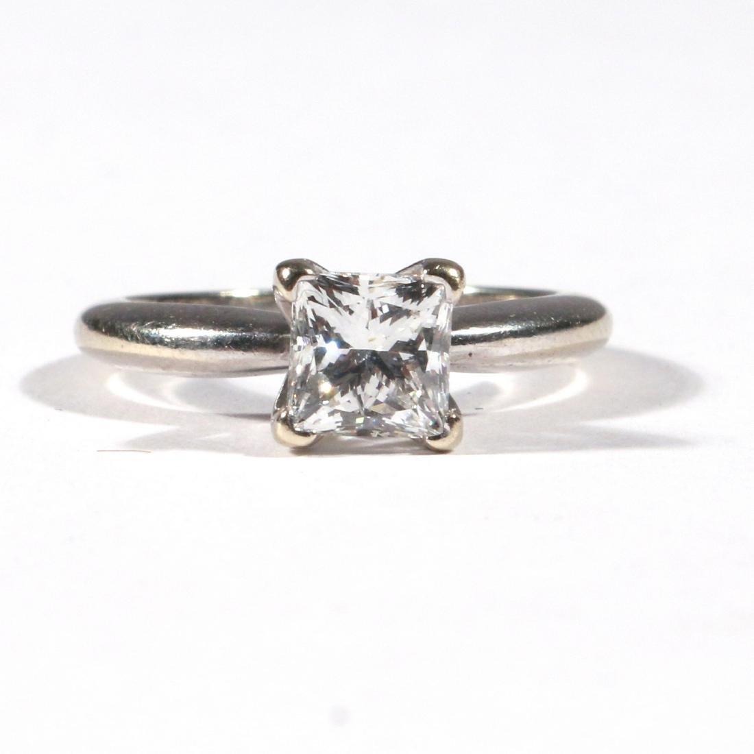 .91ct PRINCESS CUT DIAMOND ENGAGEMENT RING - 2
