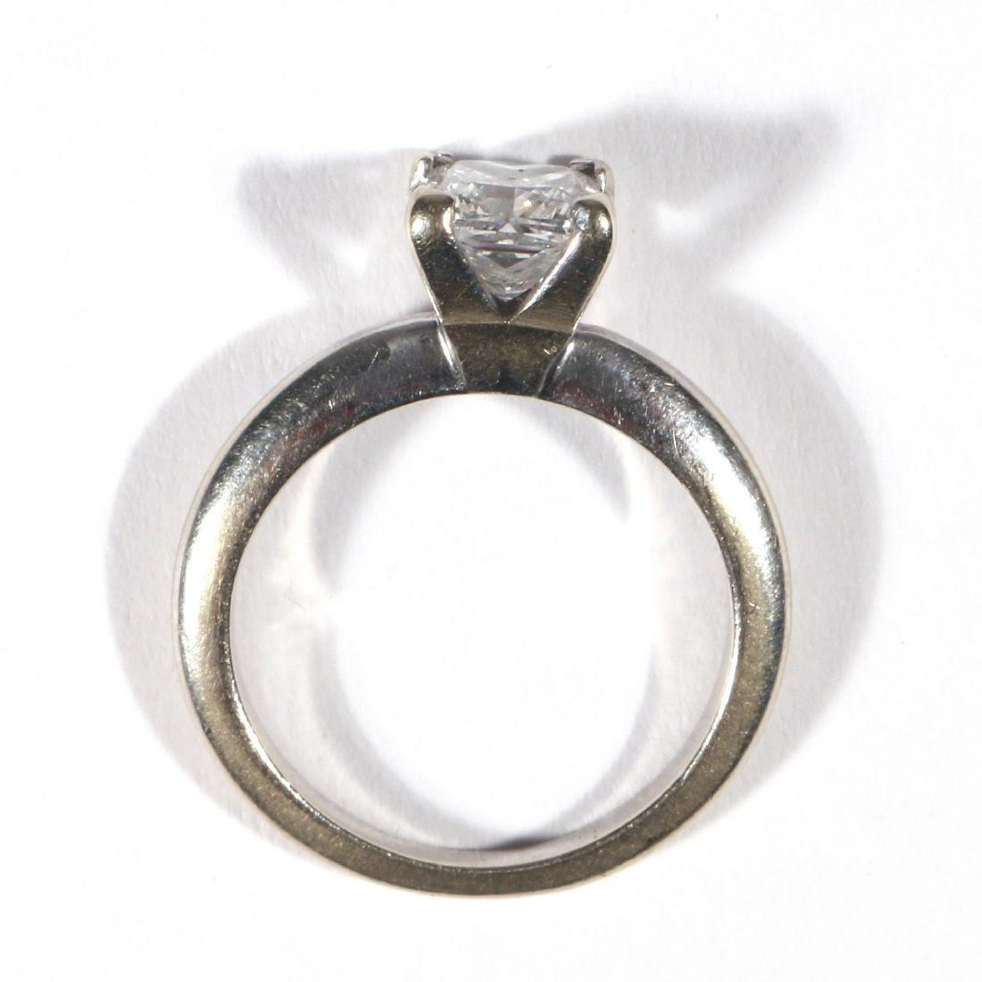 .91ct PRINCESS CUT DIAMOND ENGAGEMENT RING - 3