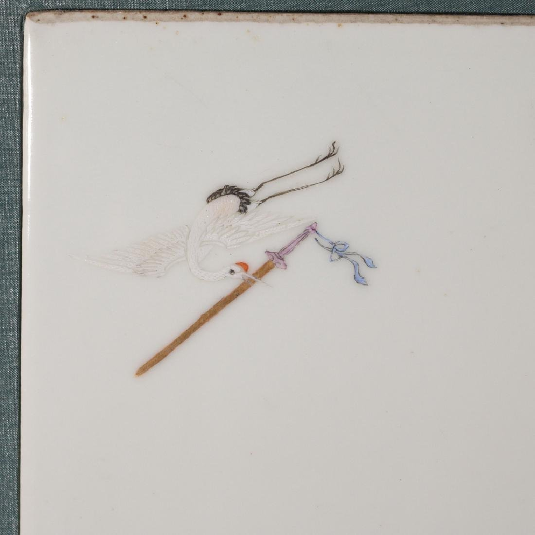 PAIR CHINESE PORCELAIN PLAQUES - 4
