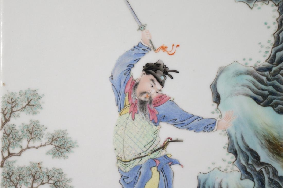PAIR CHINESE PORCELAIN PLAQUES - 6