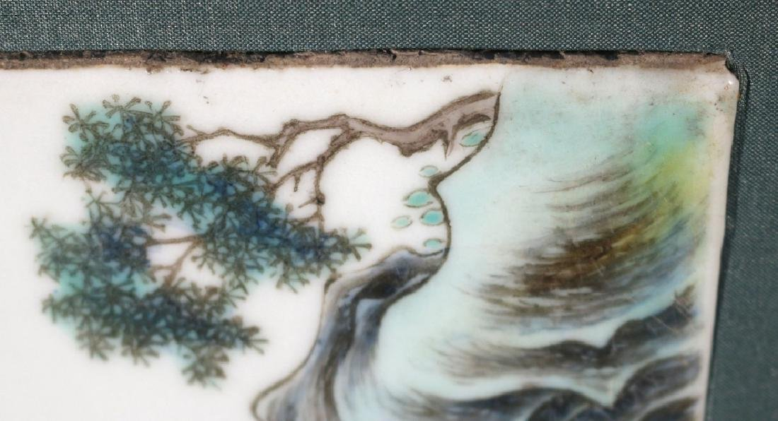 PAIR CHINESE PORCELAIN PLAQUES - 7