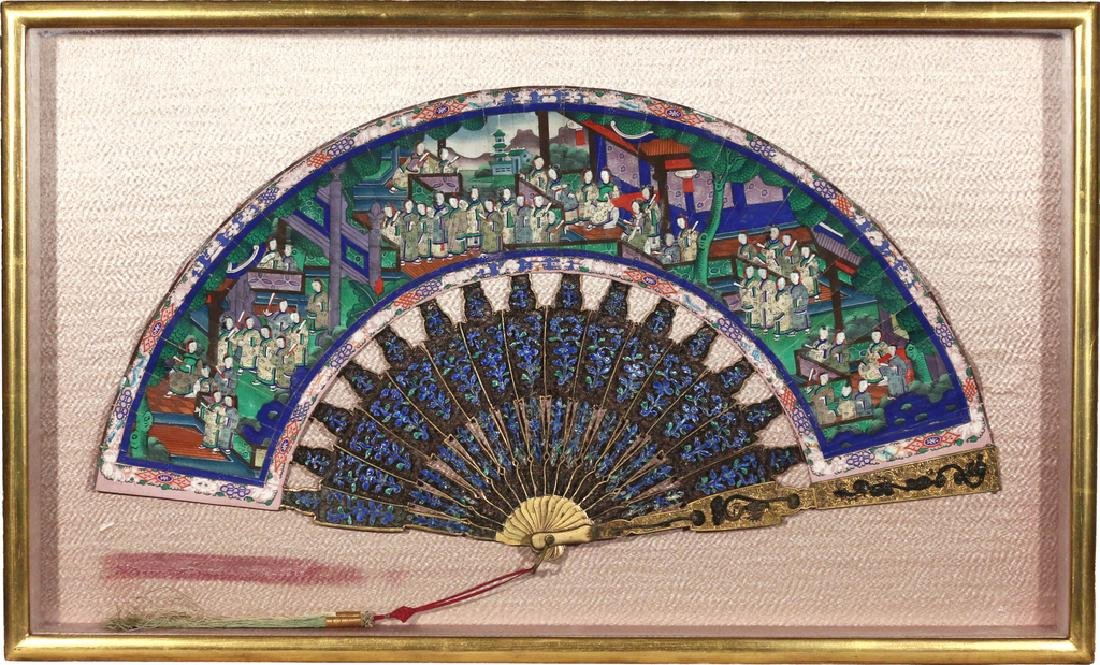 ELABORATE CHINESE HAND FAN