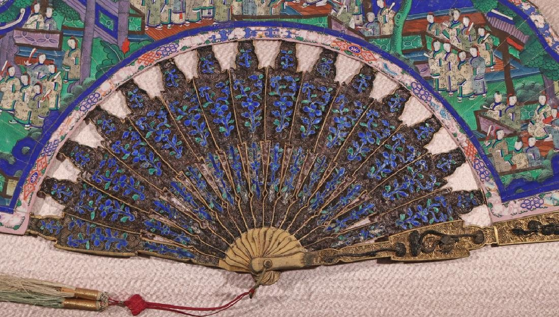 ELABORATE CHINESE HAND FAN - 6