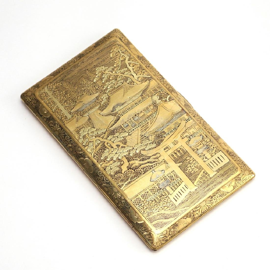 JAPANESE DAMASCENE CIGARETTE CASE - 2
