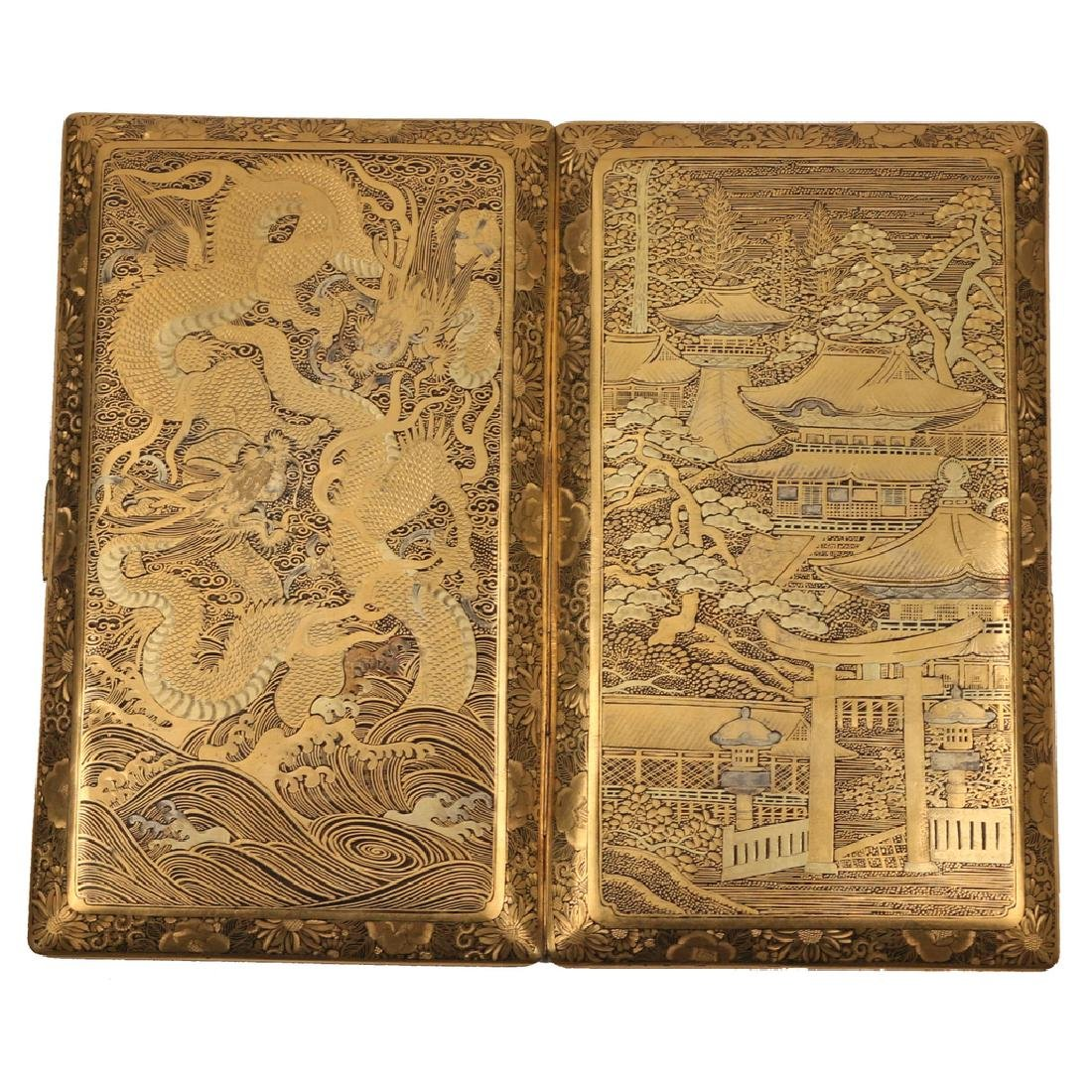 JAPANESE DAMASCENE CIGARETTE CASE - 3