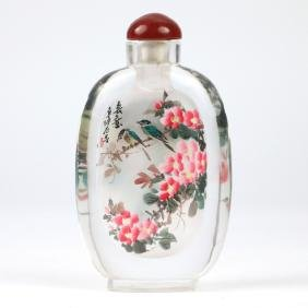 LARGE INTERNALLY-PAINTED SNUFF BOTTLE