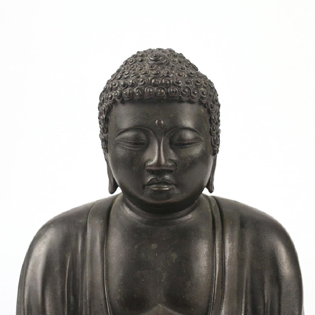 CHINESE BRONZE BUDDHA AMITABHA - 4