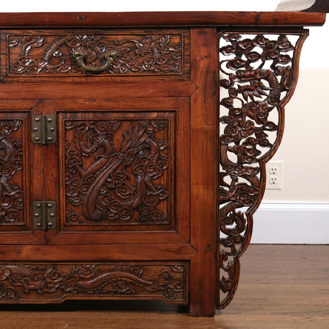CHINESE HARDWOOD CARVED COFFER (LIANSANCHU) - 3