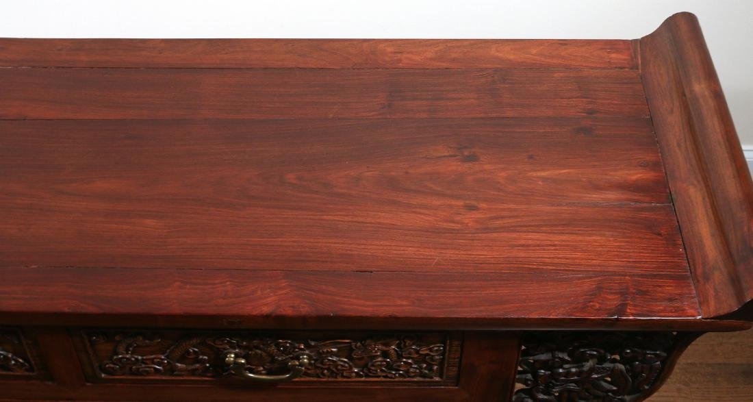 CHINESE HARDWOOD CARVED COFFER (LIANSANCHU) - 7