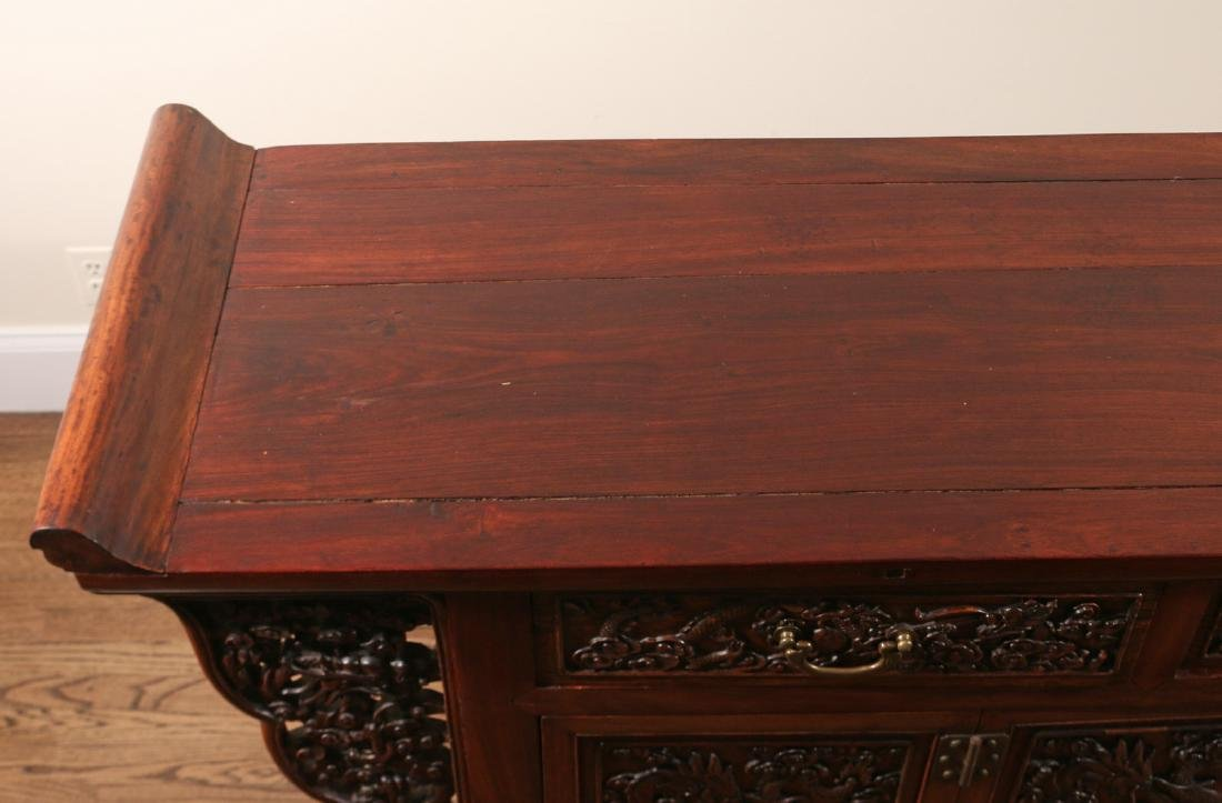 CHINESE HARDWOOD CARVED COFFER (LIANSANCHU) - 8