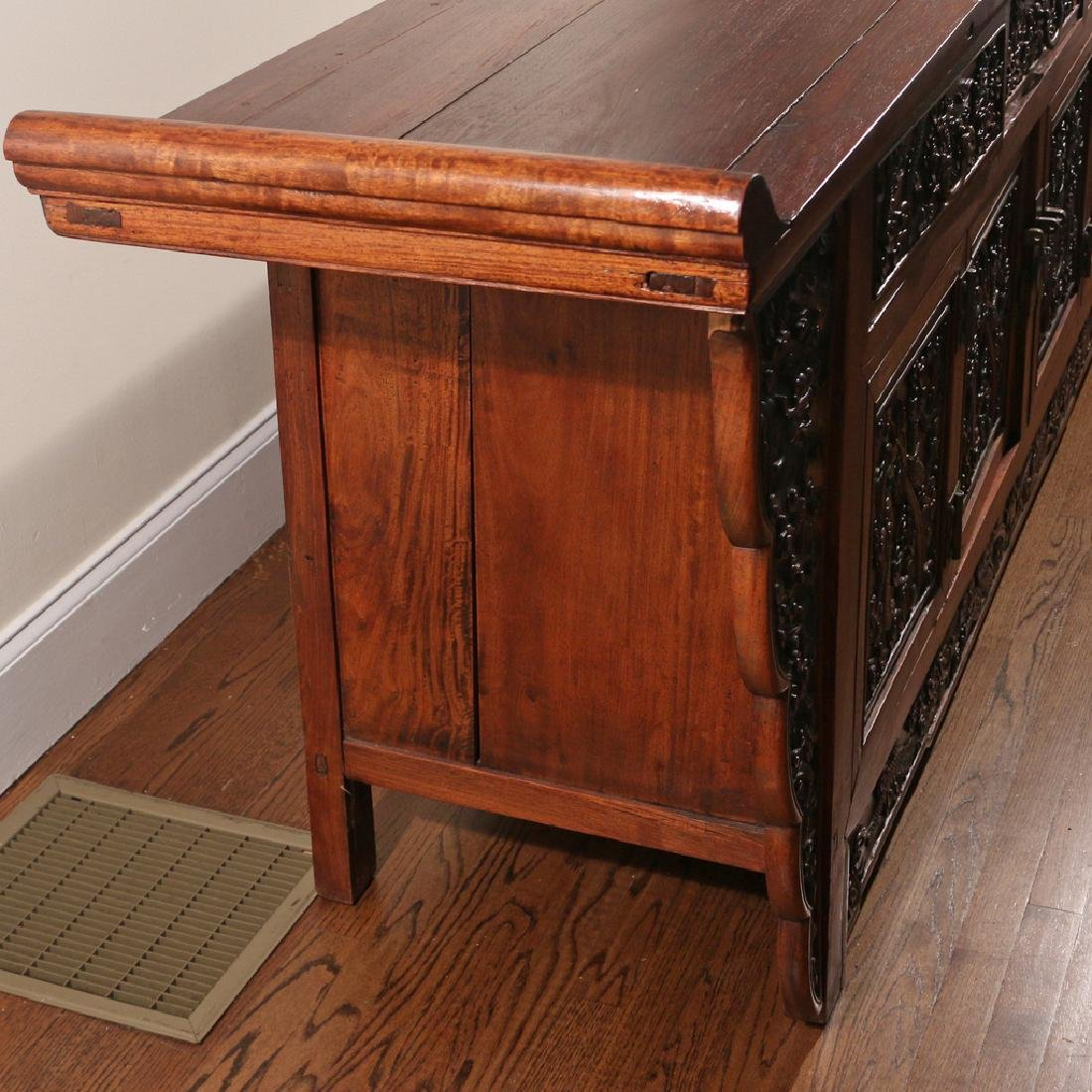 CHINESE HARDWOOD CARVED COFFER (LIANSANCHU) - 9