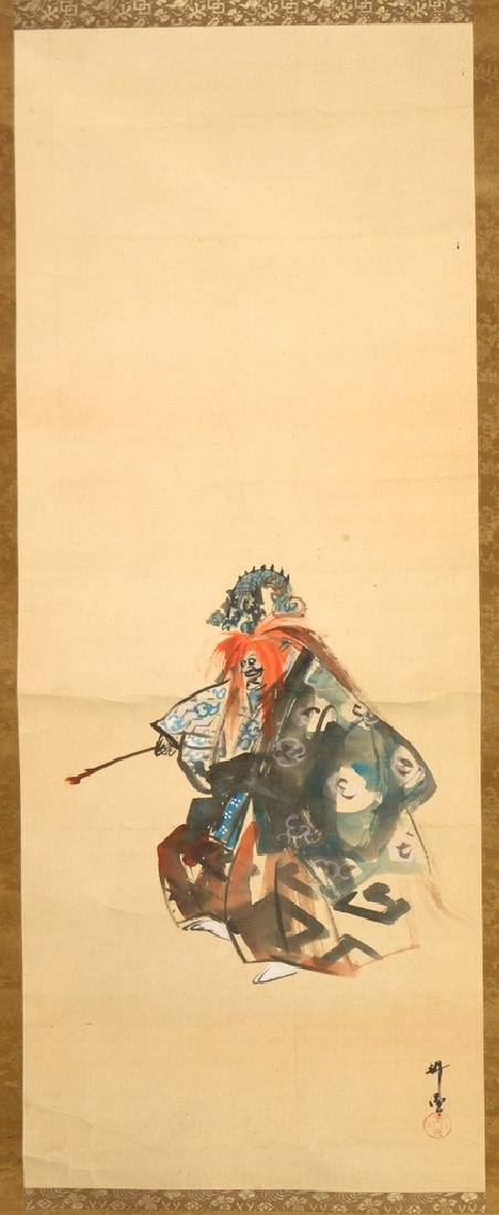 (2pc) ANTIQUE CHINESE SCROLL PAINTINGS - 2