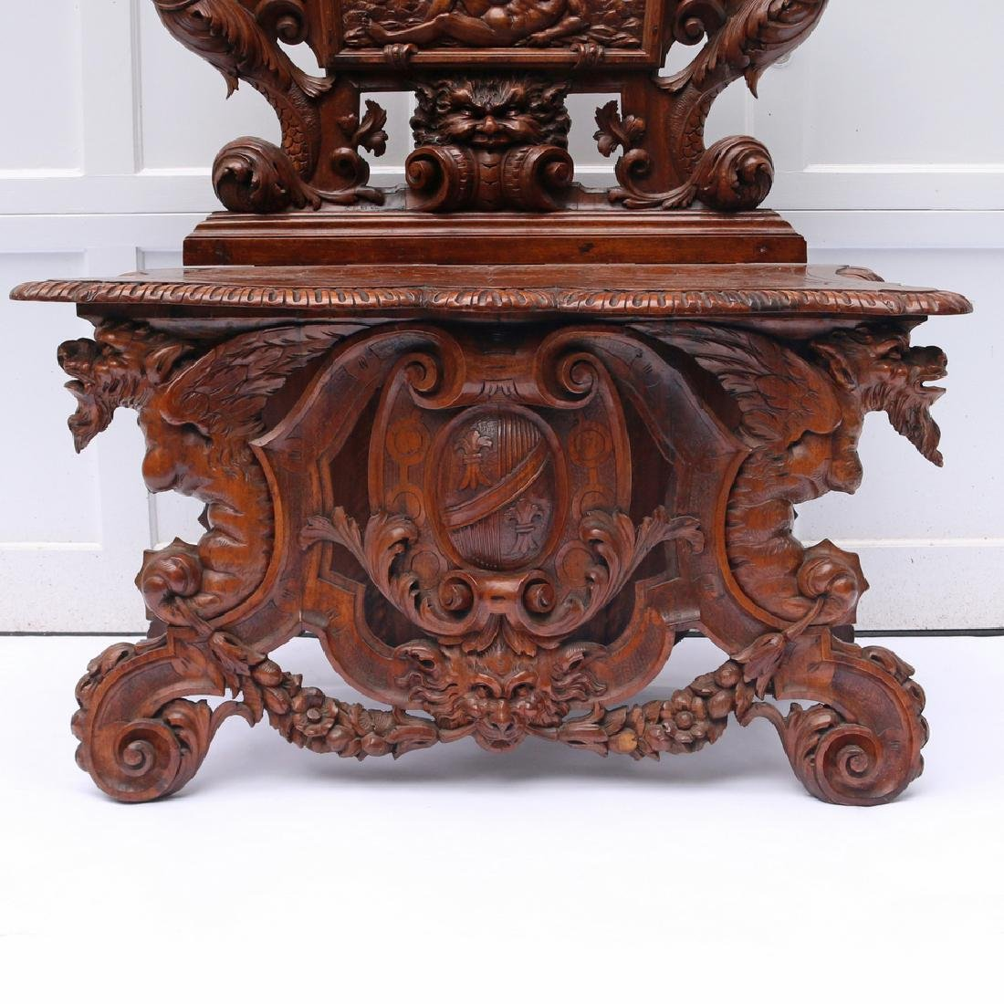 RENAISSANCE REVIVAL HALL BENCH - 2