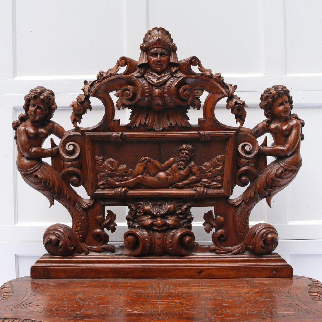 RENAISSANCE REVIVAL HALL BENCH - 3