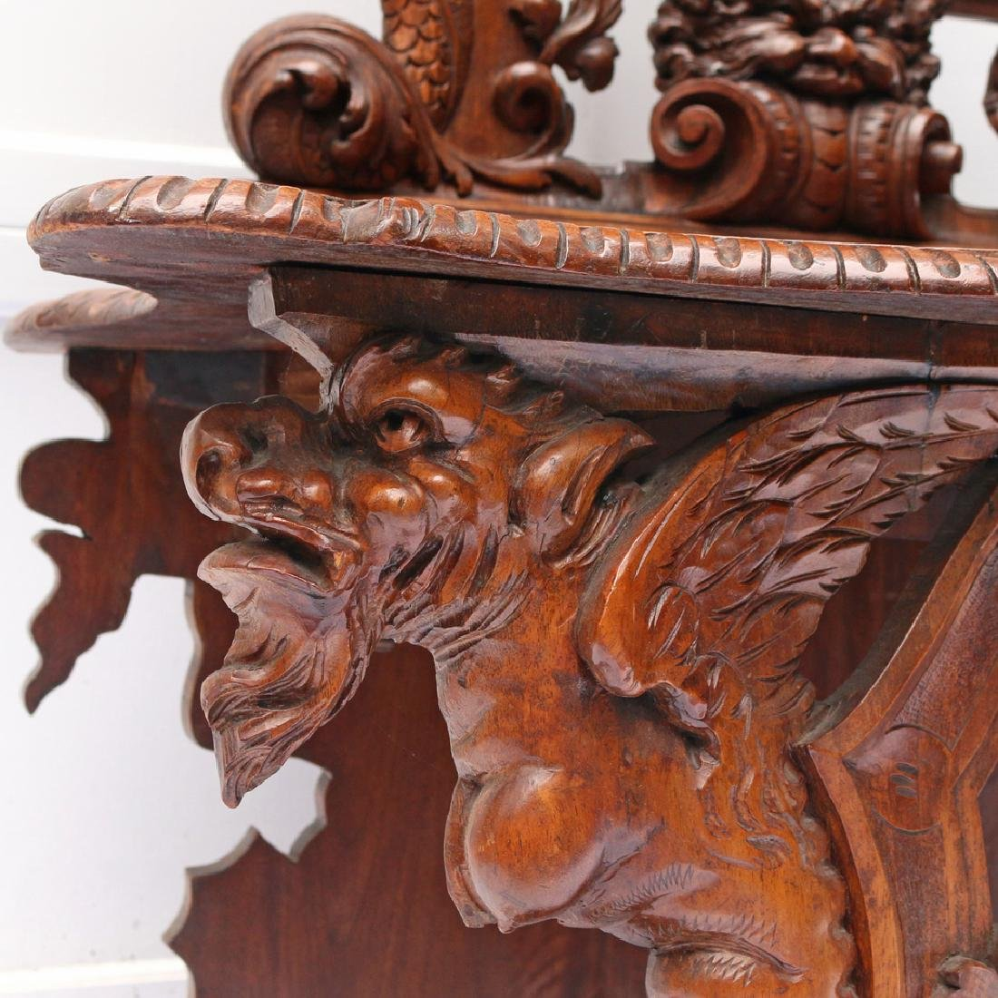 RENAISSANCE REVIVAL HALL BENCH - 7