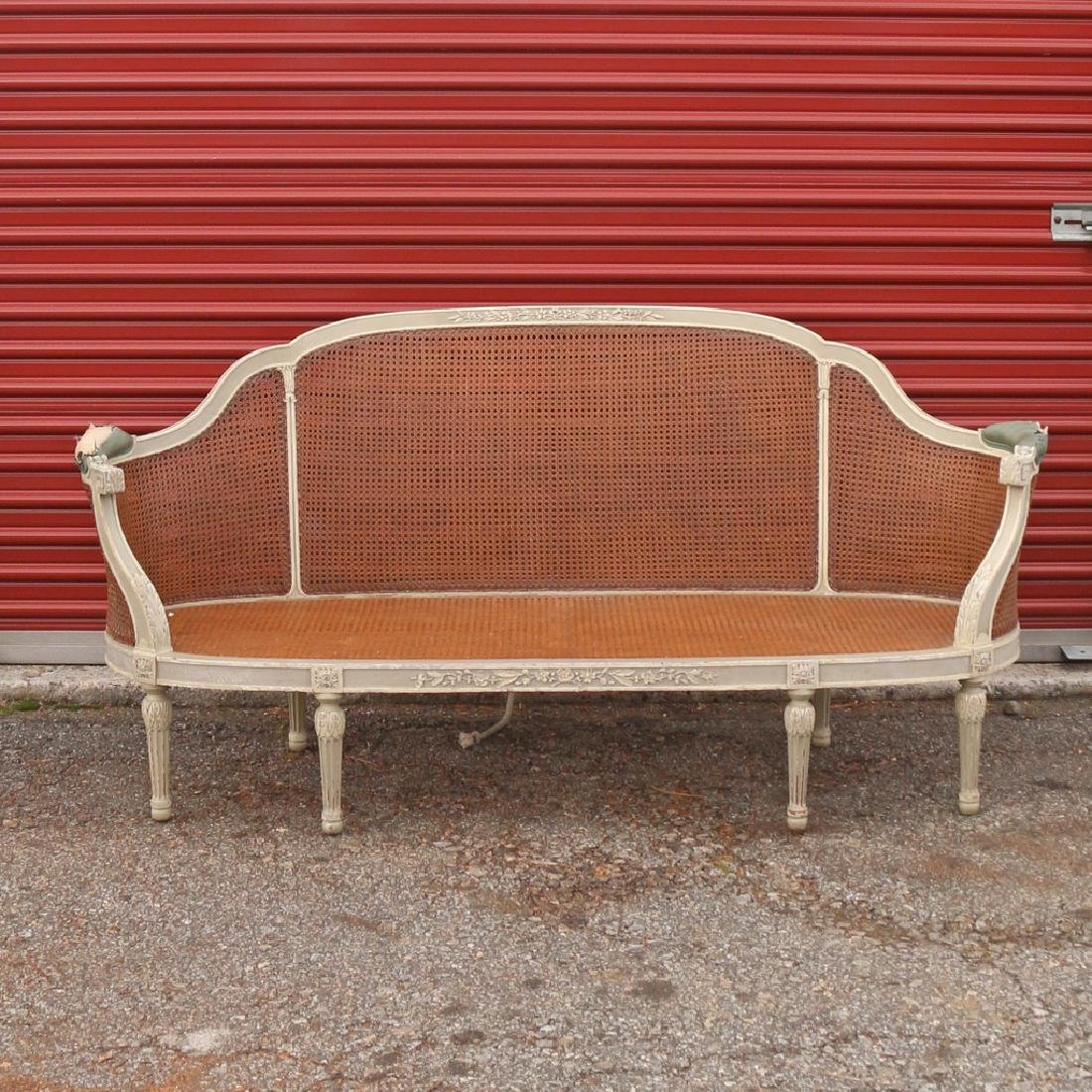 (15pc) FRENCH CARVED & PAINTED BEDROOM SUITE - 3