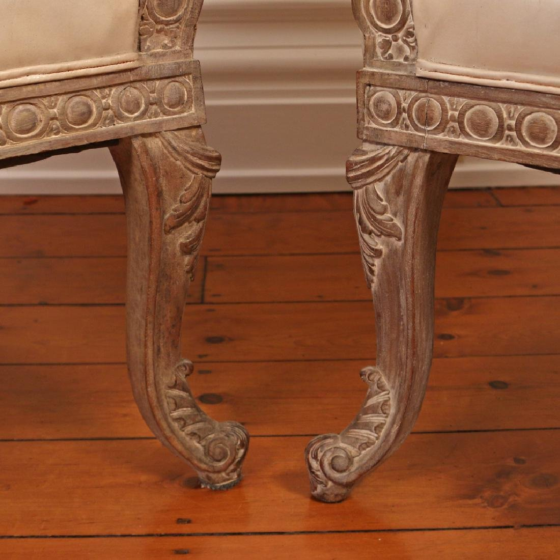 PAIR CARVED CONTINENTAL TUB CHAIRS - 2