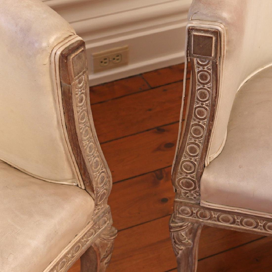 PAIR CARVED CONTINENTAL TUB CHAIRS - 4