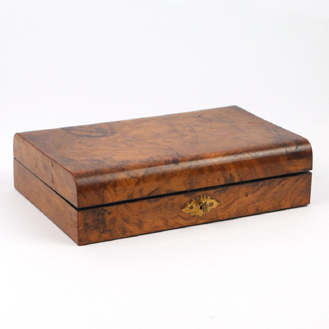 TIFFANY & CO. WALNUT CRIBBAGE BOX - 2