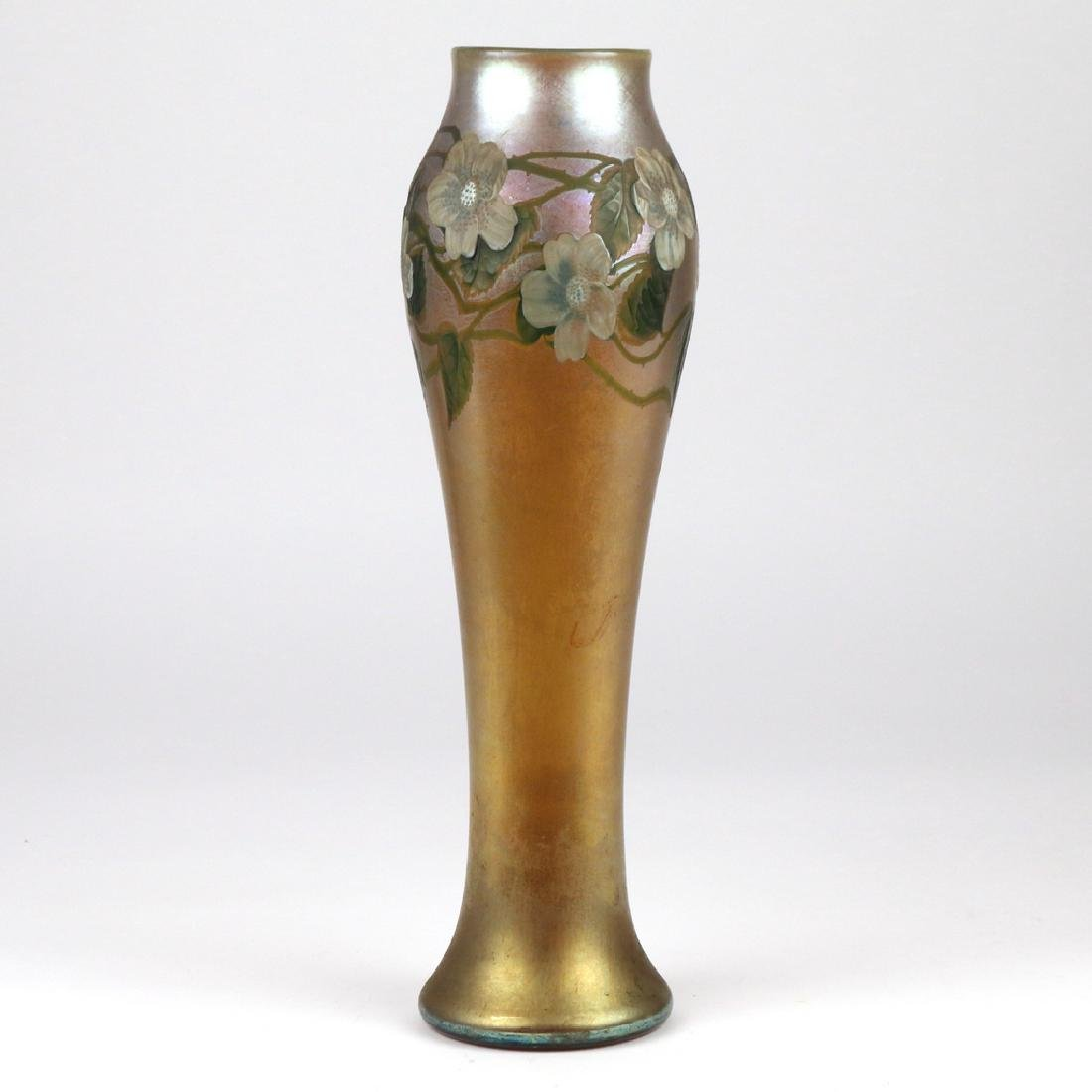 LOUIS COMFORT TIFFANY FAVRILE PAPERWEIGHT VASE - 2