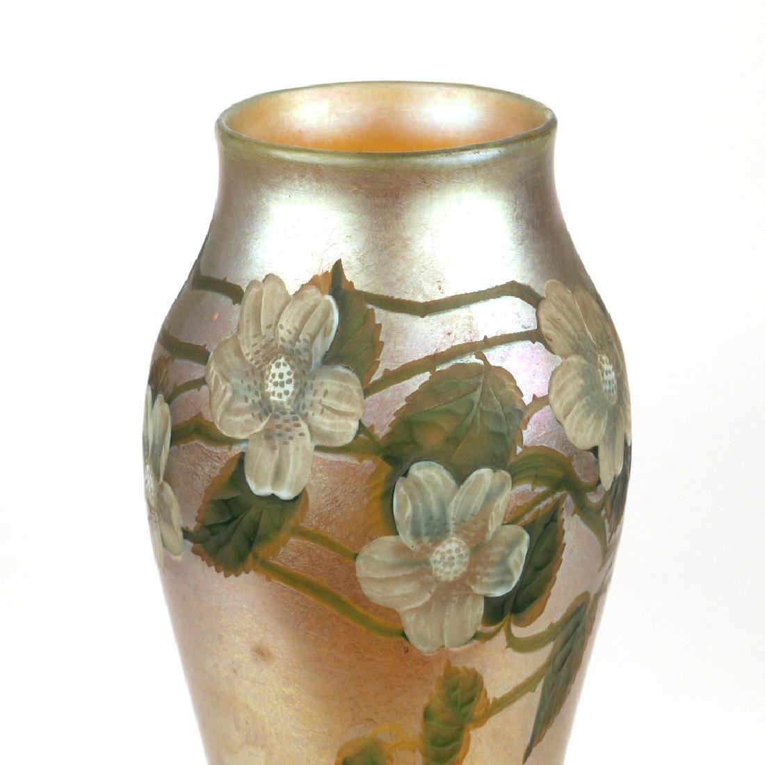 LOUIS COMFORT TIFFANY FAVRILE PAPERWEIGHT VASE - 4