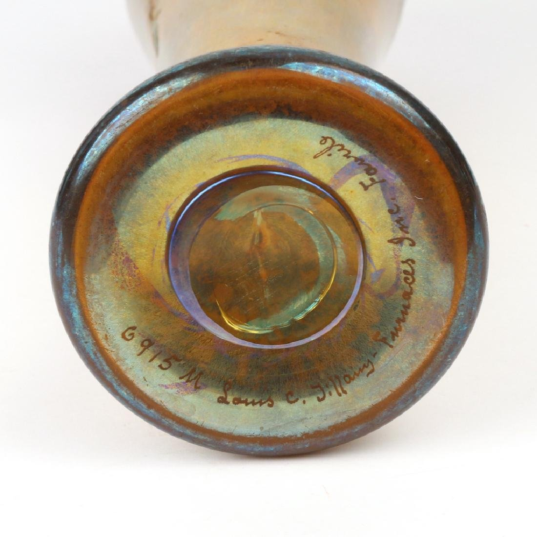 LOUIS COMFORT TIFFANY FAVRILE PAPERWEIGHT VASE - 6