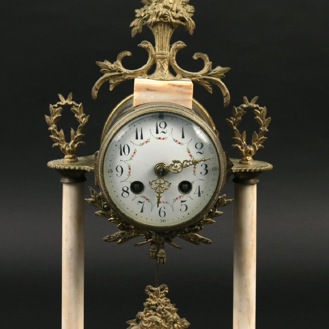 (3pc) FRENCH CLOCK GARNITURE - 9