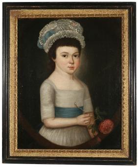 ENGLISH SCHOOL PORTRAIT OF A GIRL
