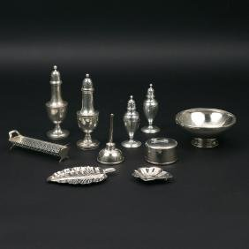 (10pc) TIFFANY & OTHER STERLING HOLLOWARE