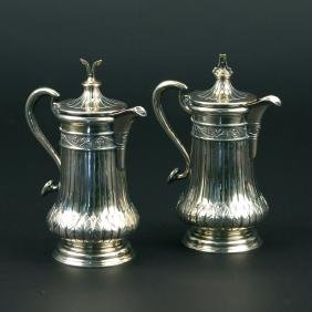 (2pc) PAIR CONTINENTAL LIDDED PITCHERS