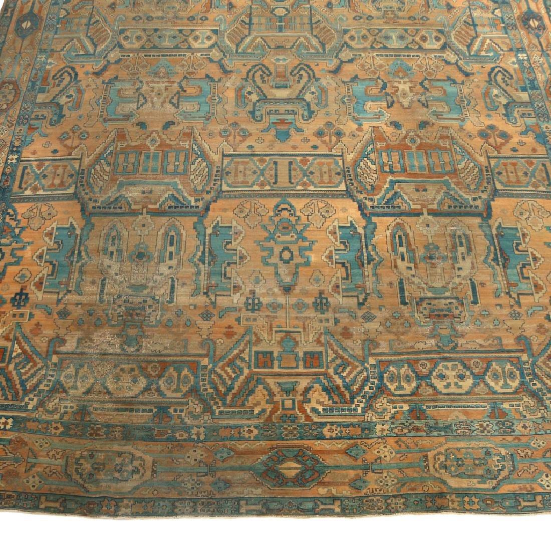 UNUSUAL PERSIAN OR INDIAN GEOMETRIC CARPET - 2