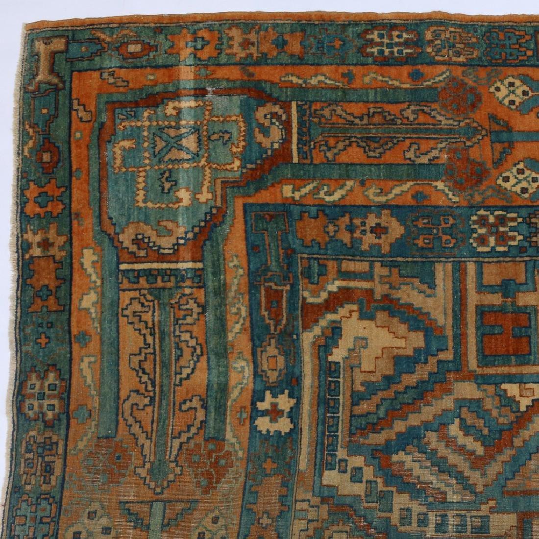 UNUSUAL PERSIAN OR INDIAN GEOMETRIC CARPET - 3