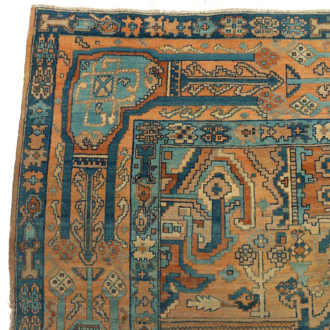 UNUSUAL PERSIAN OR INDIAN GEOMETRIC CARPET - 4