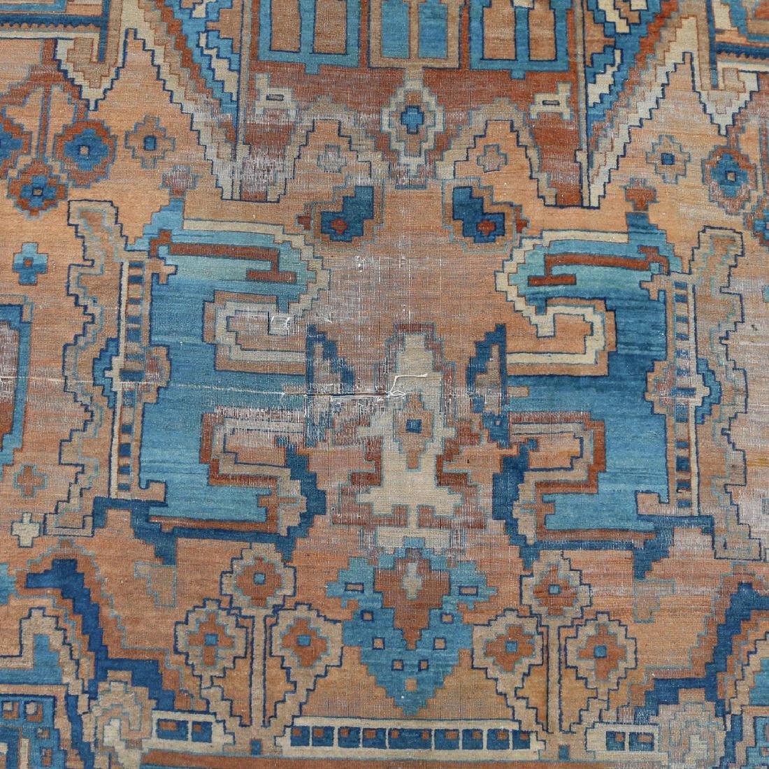 UNUSUAL PERSIAN OR INDIAN GEOMETRIC CARPET - 6