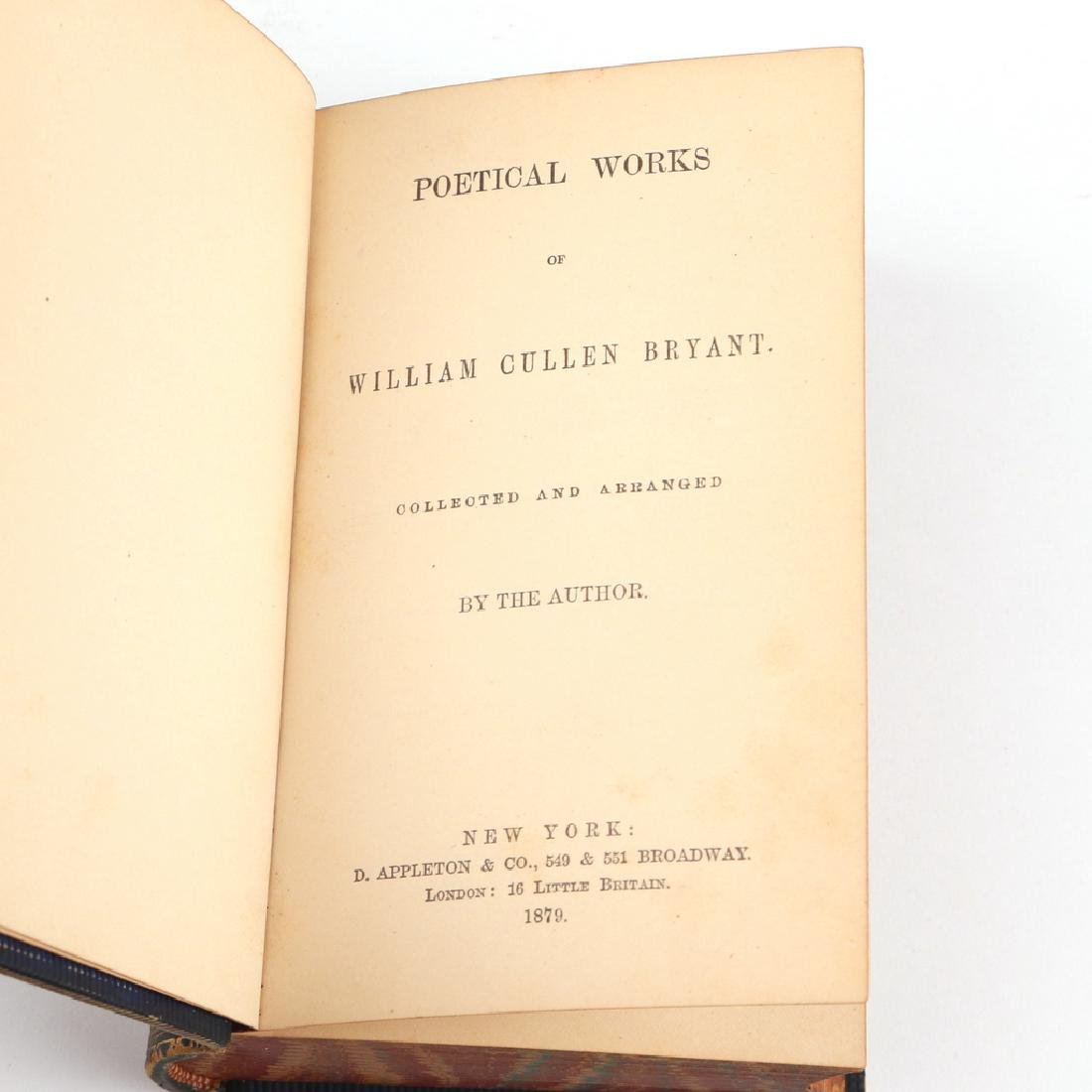 (2pc) WILLIAM CULLEN BRYANT LETTER AND BOOK - 4
