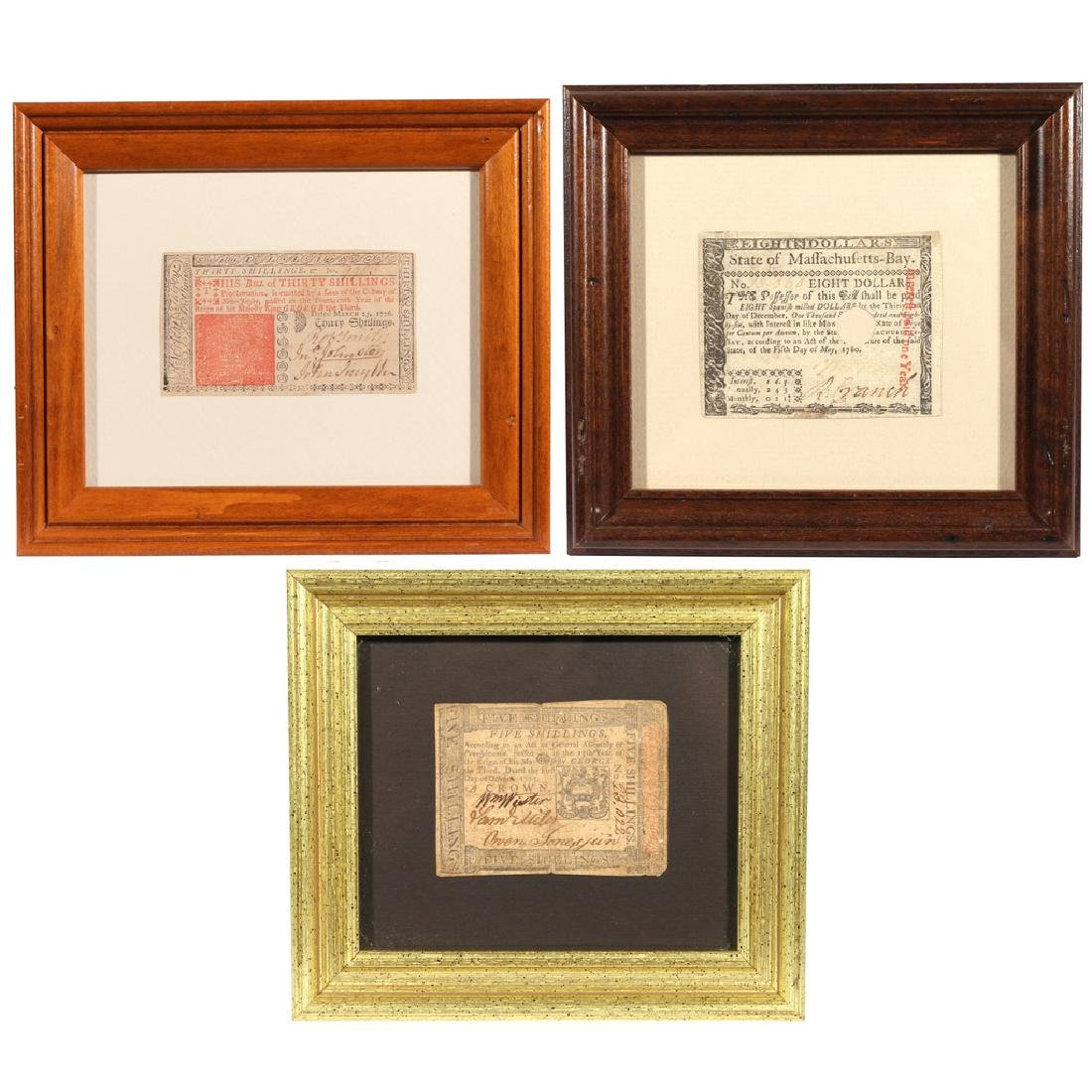 (3pc) COLONIAL CURRENCY