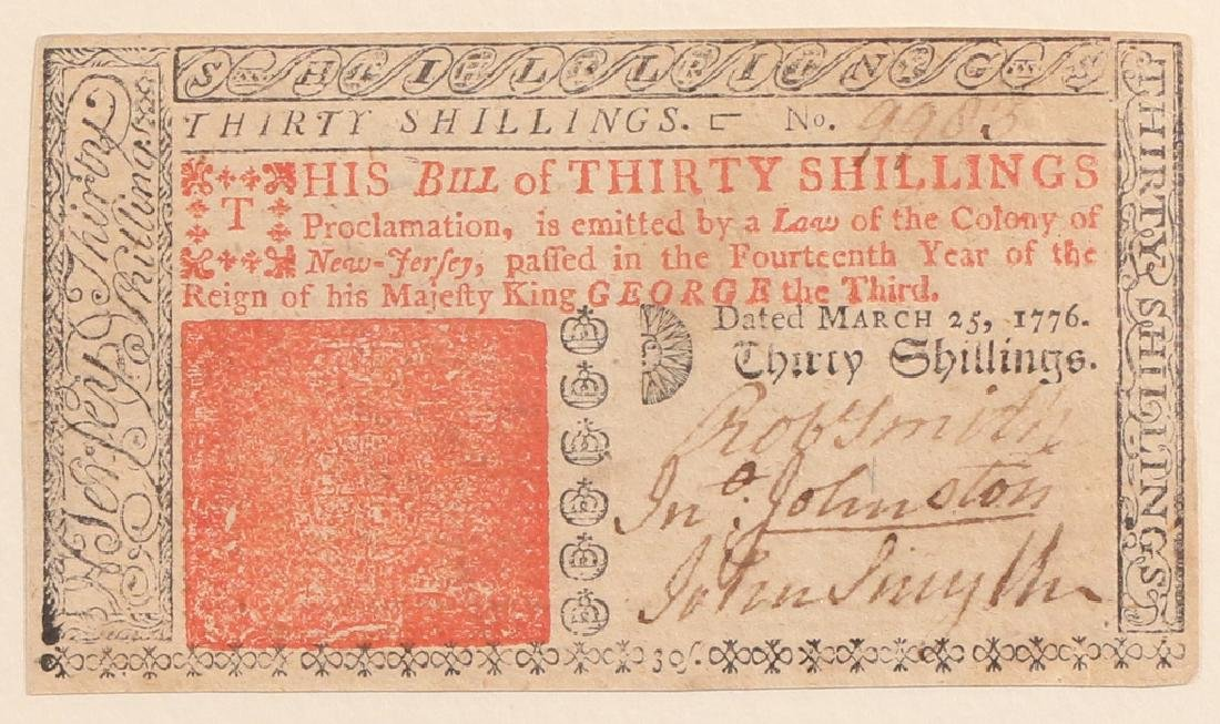 (3pc) COLONIAL CURRENCY - 3