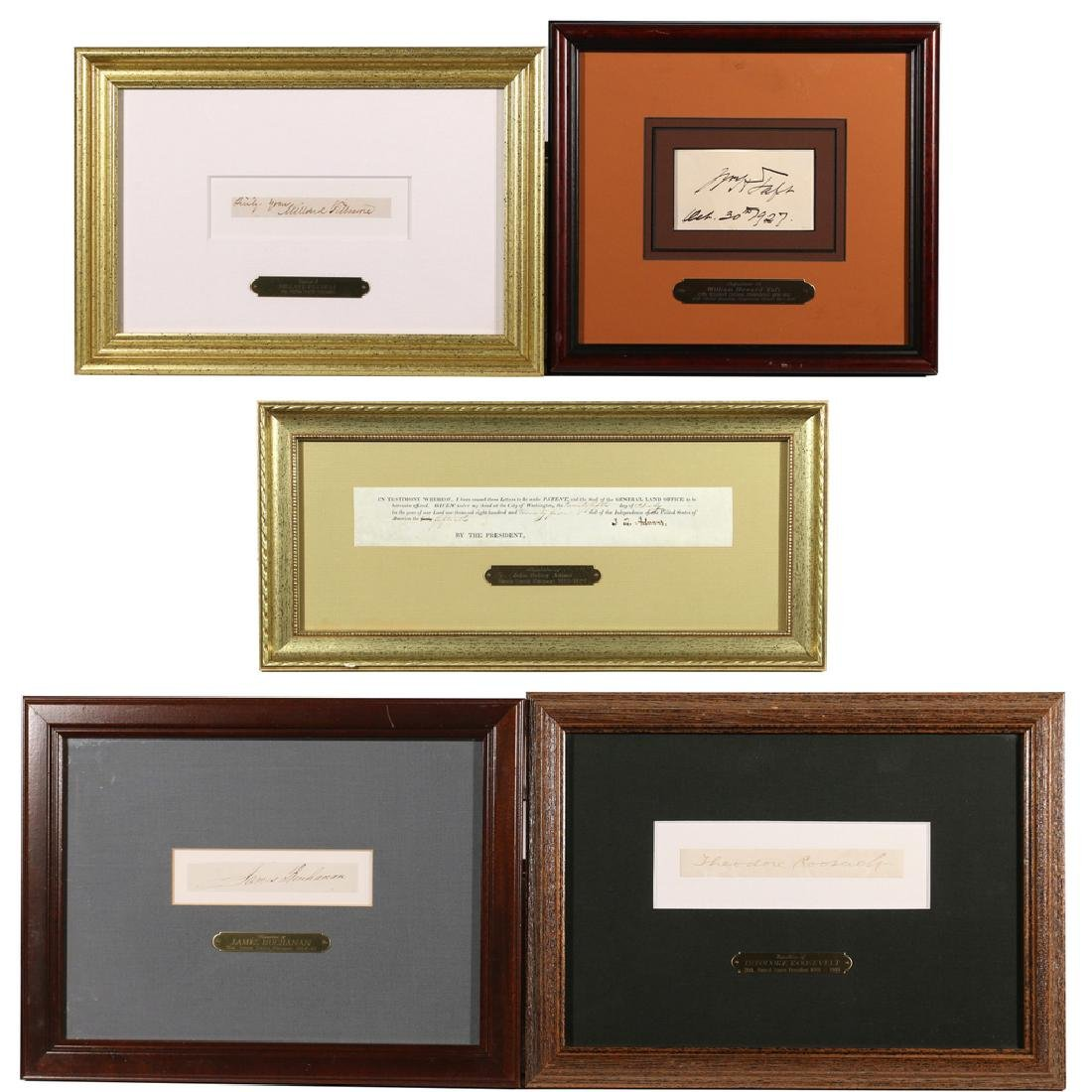 (5pc) AMERICAN PRESIDENTIAL SIGNATURES