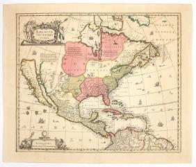 [MAP OF AMERICA] AMERICA SEPTENTRIONALIS