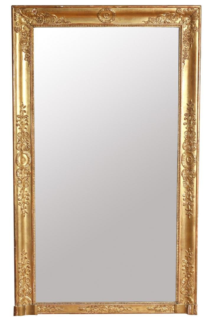 RECTANGULAR GILT GESSO WALL MIRROR