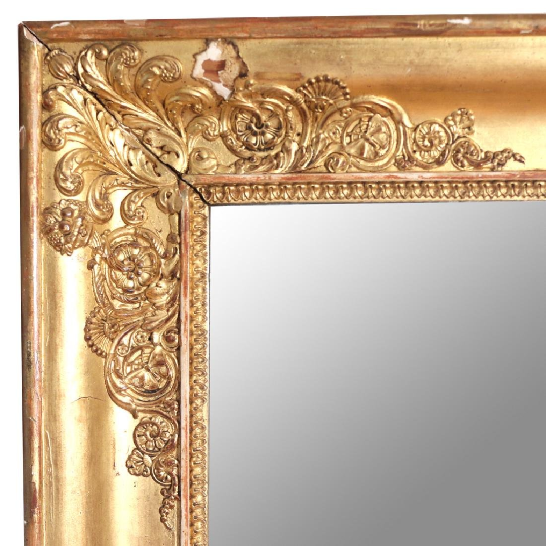 RECTANGULAR GILT GESSO WALL MIRROR - 2