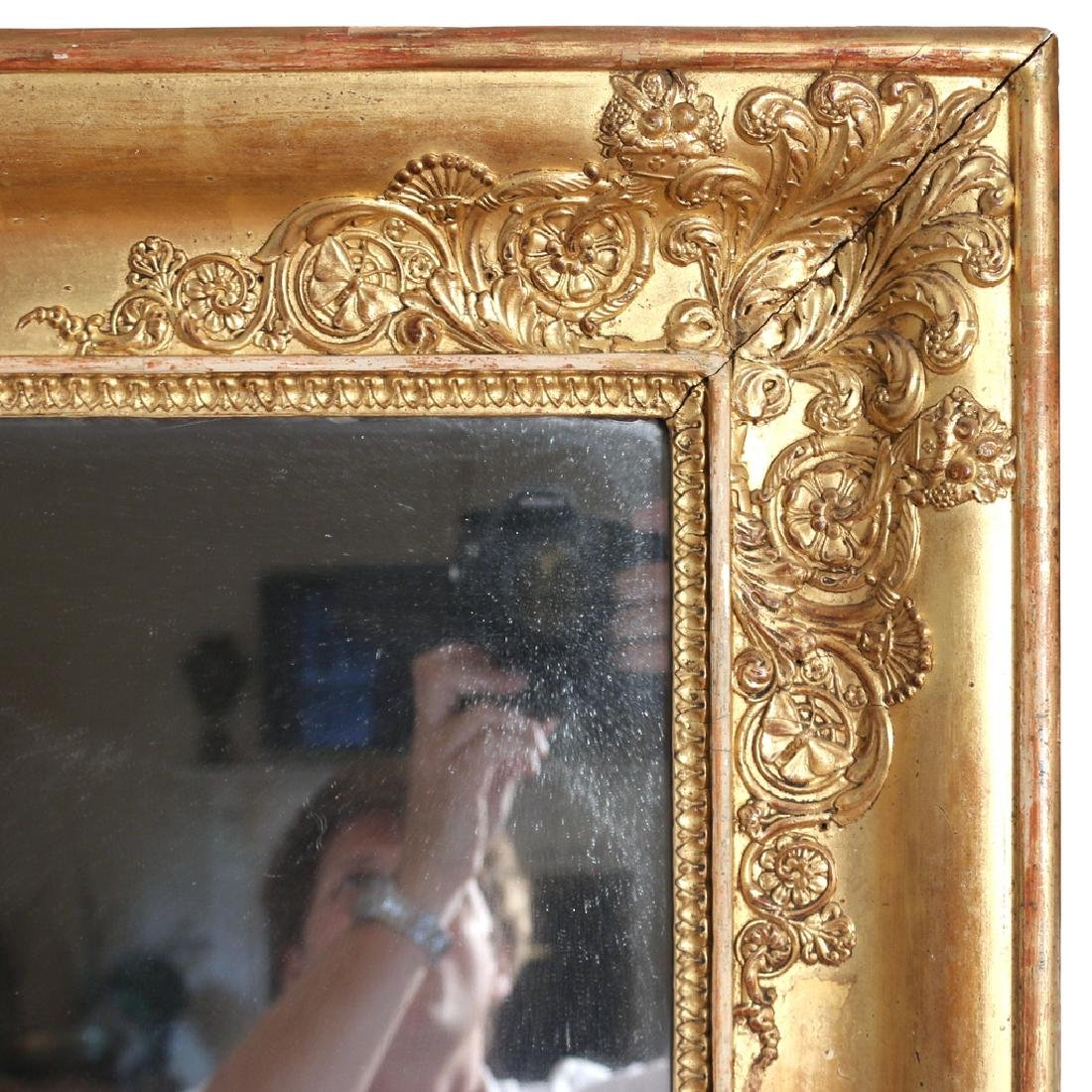 RECTANGULAR GILT GESSO WALL MIRROR - 3