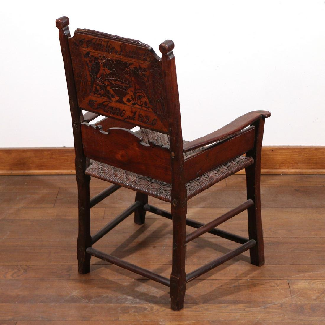 DUTCH MARQUETRY OAK ARMCHAIR - 3