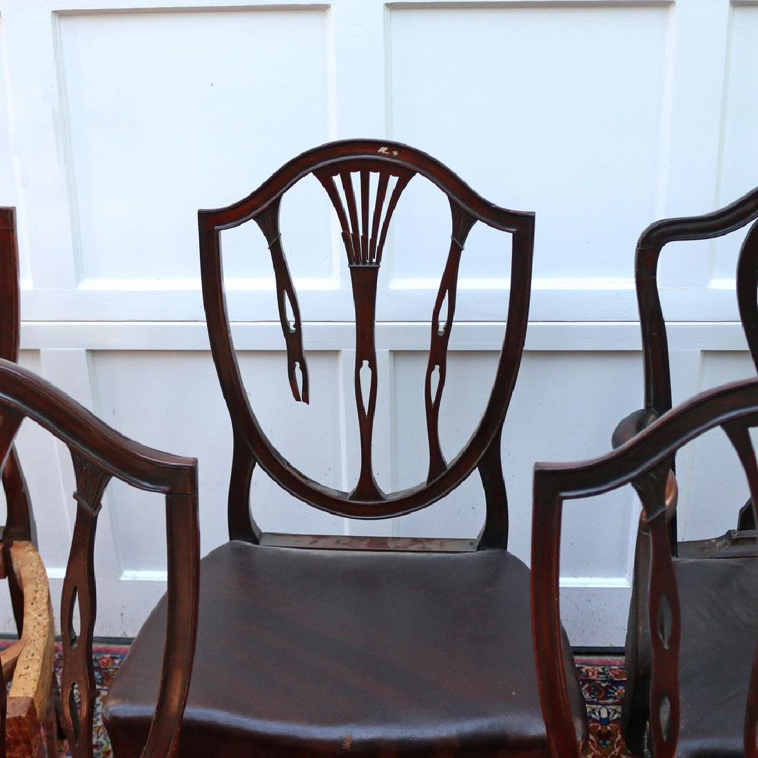 (6pc) HEPPLEWHITE-STYLE DINING CHAIRS - 3